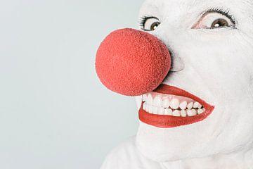Clown met rode neus van Natasja Tollenaar