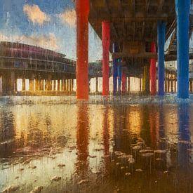Onder de geschilderde Scheveningse Pier van Arjen Roos