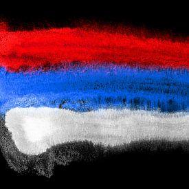 Symbolische nationale vlag van Servië van Achim Prill