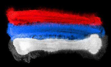 Symbolische Nationalflagge Serbiens von Achim Prill