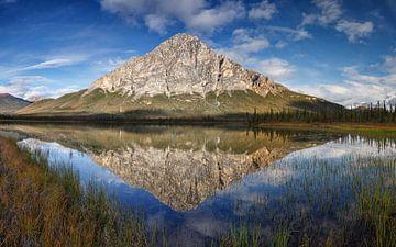 Dillon Mountian in een reflectie in het meer sur Menno Schaefer