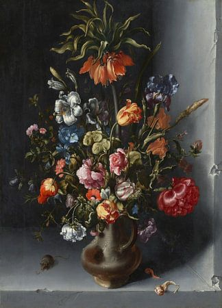 Stilleven met bloemen in een stenen nis, Jacob Vosmaer van Meesterlijcke Meesters