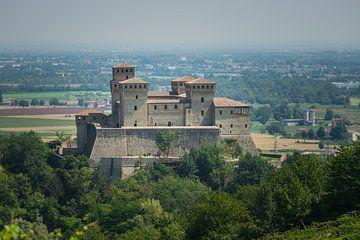Castello di Torrechiara bij Parma, Italie van Patrick Verhoef