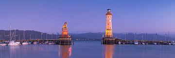 Lindauer Leuchtturm Panorama von Vincent Fennis