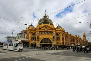 Flinders Street Station in Melbourne, Victoria, Australien