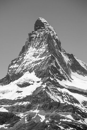 Hörnligrat Matterhorn schwarz-weiß