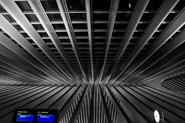 Tijd /Station Luik-Guillemins  van Jo Miseré