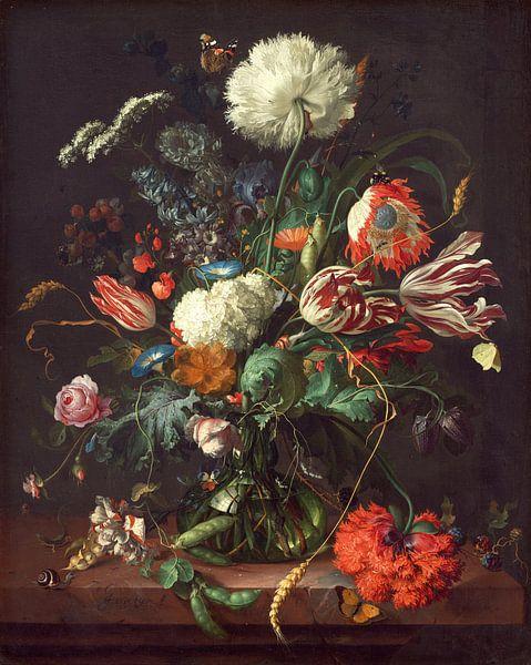 Jan Davidsz de Heem. Vaas met bloemen  van 1000 Schilderijen