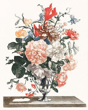 Bloemen in een glazen vaas, Johan Teyler