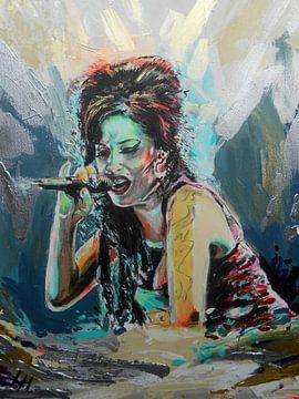 Amy Winehouse - Rehab sur Lucia Hoogervorst