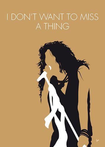 No200 MY Aerosmith Minimal Music poster van
