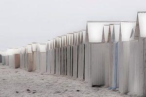 strandhuisjes pastel