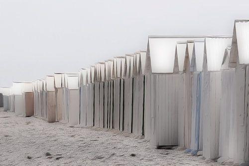 strandhuisjes pastel van