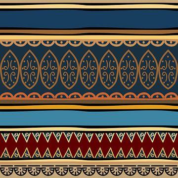 Navajo-Muster Azteke Abstrakt 6 von Rudy en Gisela Schlechter