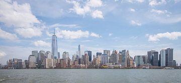 Financial district Manhatten, New York van Lex Scholten