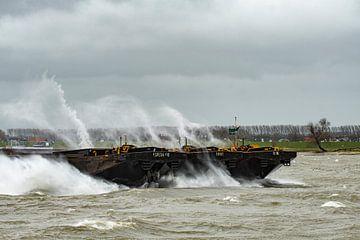 Storm op de Merwede