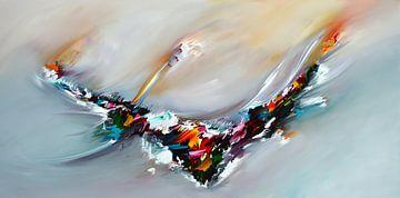 Abstraktes Fliegen von Gena Theheartofart