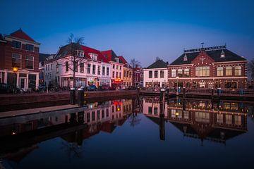 Leiden Hafen an der Blauwe Stunde sur Leanne lovink