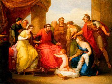 Das Kind Pyrrhos fleht König Glaukos um Asyl an, Angelika Kauffmann