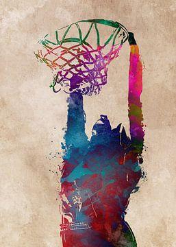 Basketbal 3 sportkunst #basketbal van JBJart Justyna Jaszke