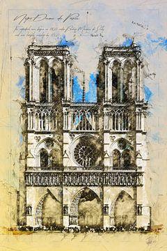 Notre Dame, Parijs van Theodor Decker