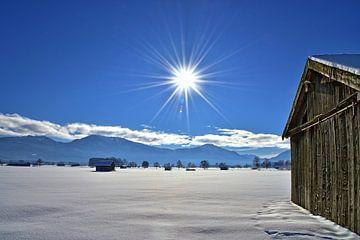 winter day - bavaria van Peter Bergmann