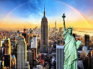 New York City met Vrijheidsbeeld van Thomas Zacharias
