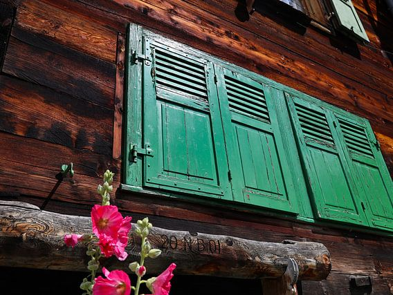 groene raamluiken