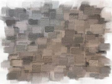 Abstrakte beige-graue Quadrate von Maurice Dawson