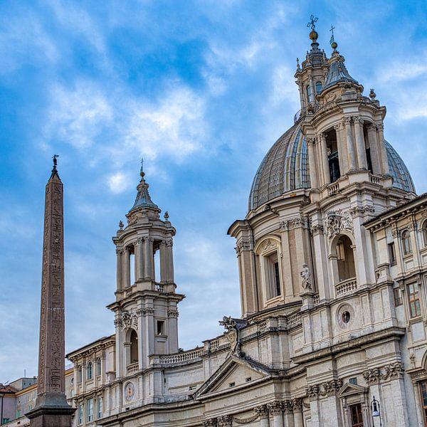 Rome - Piazza Navona - Sant'Agnese in Agone van Teun Ruijters