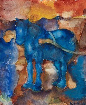 Blauw paard, Alexej von Jawlensky, ca 1916 van Atelier Liesjes