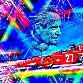Die belgische Motorsportlegende Jacky Ickx von DeVerviers
