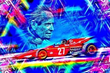 De Belgische motorsport legende Jacky Ickx van DeVerviers