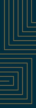 Lignes dorées sur bleu sur Studio Malabar
