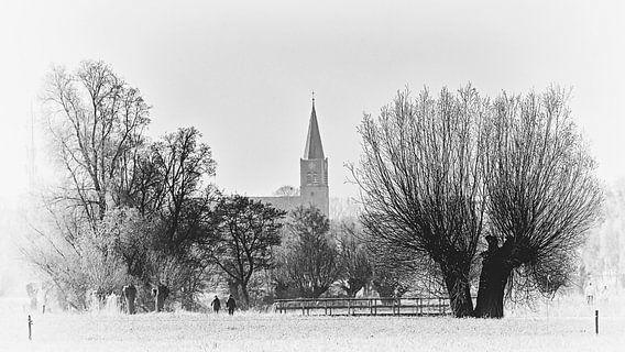 Blik op het Brabantse kerkdorp Nispen