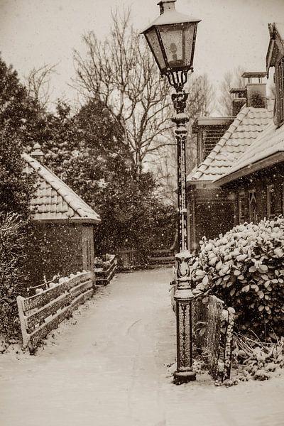 Snow in sepia van Wybrich Warns