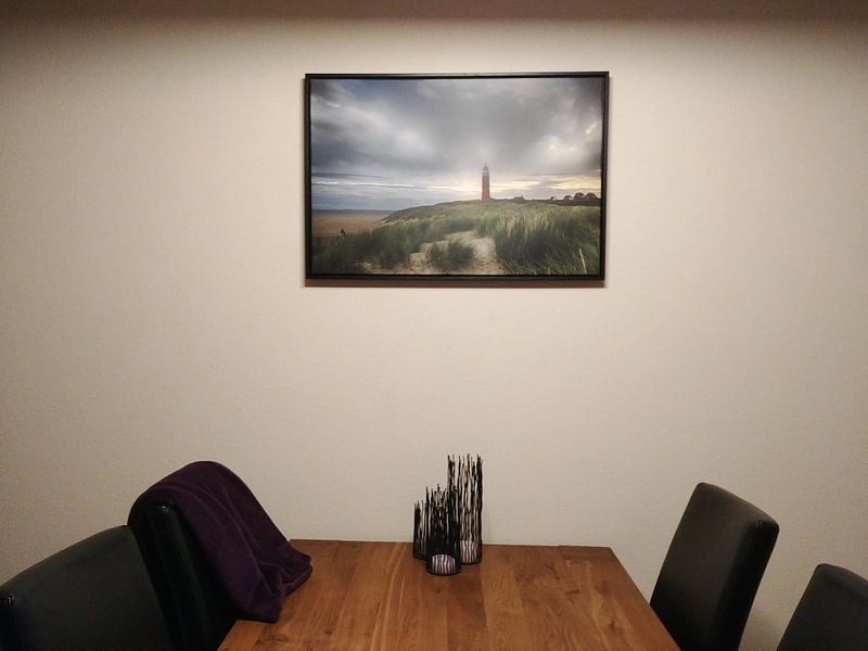 Kundenfoto: Vuurtoren Texel von Rudie Knol, auf leinwand