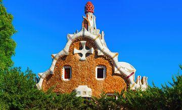 Park Guell - Barcelona, Spanje. van Yevgen Belich