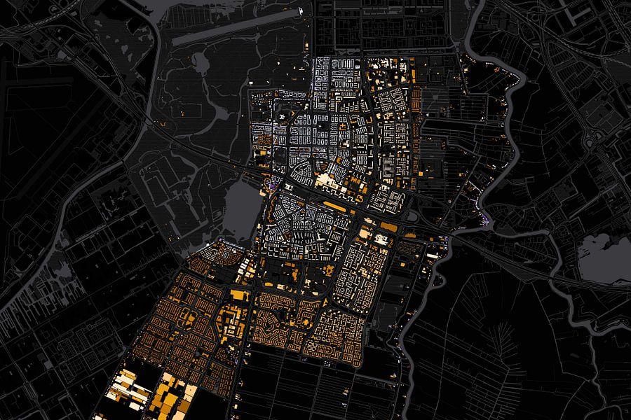 Kaart van Amstelveen abstract