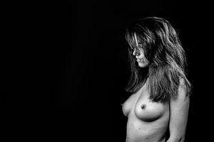 Topless vrouw sensueel van