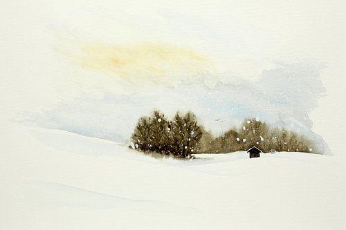 Winterzonnetje in skigebied