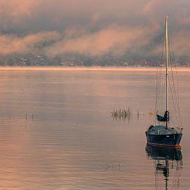 Sonnenaufgang Murten, Schweiz von Henk Meijer Photography