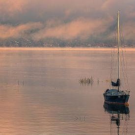 Lever du soleil de Morat, Suisse sur Henk Meijer Photography