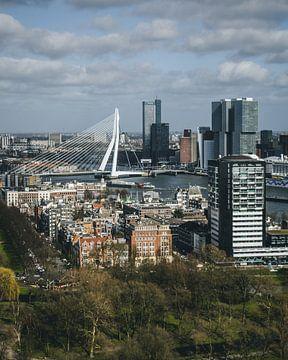 Uitzicht op de Erasmusbrug en Kop van Zuid van MAT Fotografie