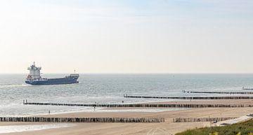 Schiff entlang der Küste von Percy's fotografie