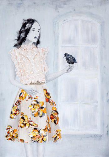 Bird Lady / Vogel Frau von Carmen de Bruijn