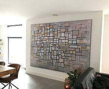 Klantfoto: Piet Mondriaan. No. 11, als print op doek