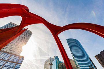 Wolkenkrabbers in La Défense in Parijs van Werner Dieterich