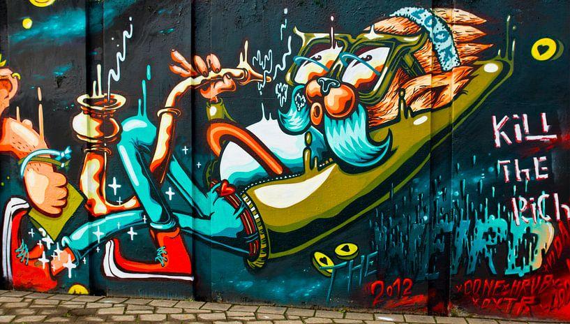 Grafitti 'Lazy' van Greetje van Son