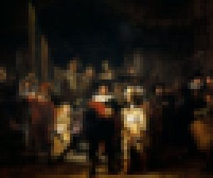 Pixel Art: De Nachtwacht van